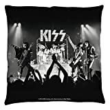 Kiss Rock Band Music Group Hard Rock On Stage Throw Pillow
