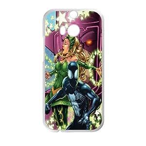 HTC One M8 Cell Phone Case White Black Spiderman Comics Ebgkl