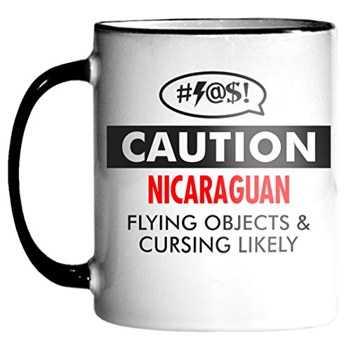 NICARAGUAN Caution Cursing Funny 11oz Mug Coffee Tea Cocoa y4