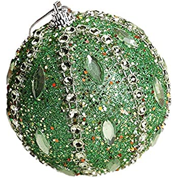 cnnIUHA Christmas Balls Ornaments Set Glitter Sequin Shatterproof Xmas Tree Hanging Baubles Decorations for Holiday Wedding Party Decoration Supplies C,80mm Blue