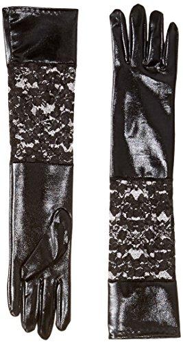 Seven Til Midnight Women's Lame Gloves, Black, One Size]()