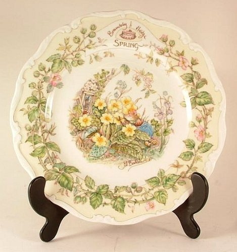 Royal Doulton Brambly Hedge Spring plate by Jill Barklem 1982 - CP1057 Royal Doulton Brambly Hedge