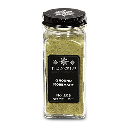 - The Spice Lab No. 203 - Ground Rosemary - Kosher Gluten-Free Non-GMO All Natural Spice - French Jar