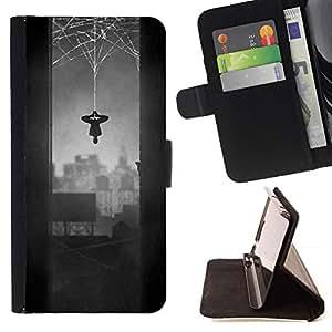 Momo Phone Case / Flip Funda de Cuero Case Cover - Araña héroe carácter cómico gris Web - LG G4 Stylus H540