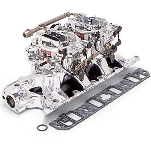 - Edelbrock 20354 Performer RPM Dual-Quad Air-Gap Manifold and Carburetor Kit