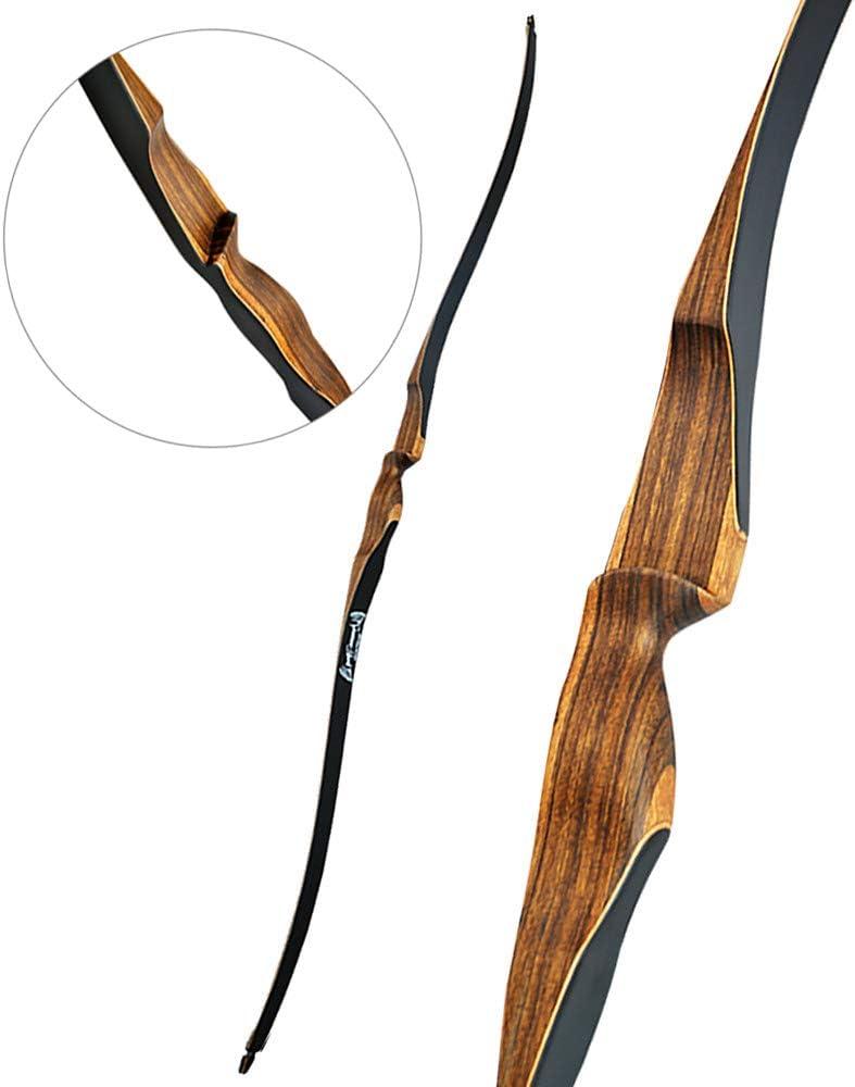 MIALEM 10~30LBS ロングボウ 52インチ リカーブボウ 右利き 狩猟弓 弓道練習専用弓 アーチェリー弓矢 アーチェリーアウトドア  30LBS
