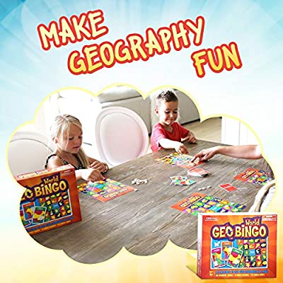 Geotoys — GeoBingo World and GeoBingo USA — 2 Board Game Set for Kids — Geography Bingo Game Learning Resources and Educational Toys, Map Games — Kid Toys for Ages 4 and Up: Toys & Games