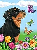 Best of Breed Rottweiler Butterfly Garden Flag