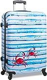 Rolite Hardside 3-Piece Spinner Luggage Set, Blue Striped Crab Review