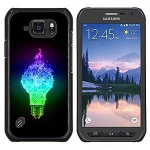 EJOOY---Cubierta de la caja de protección para la piel dura ** Samsung Galaxy S6Active Active G890A ** --Ligtbulb Colores Glow