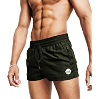 """MICOZIFY Men's Gym Workout Shorts, 3"""" Bodybuilding Running Shorts, 3 inch Athletic Gym Shorts with Zipper Pockets"""