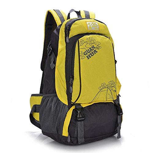 Mountaineering Bag Outdoor Männer und Frauen Schulter Rucksack Wanderpackage Bergsteigen Taschen , blau
