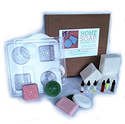 Deluxe Cocoa Butter Glycerine Soap Making Kit (Makes 16 Soaps)