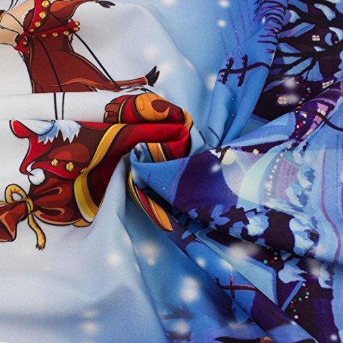 Donne Di Abiti Deesee In Una Sera Di Maniche Casuale Natale Di Blu Cuciture Senza Party tm Dell'annata Linea Delle Pizzo Da Natale Retrò Stampa Swing HRwxqtpR