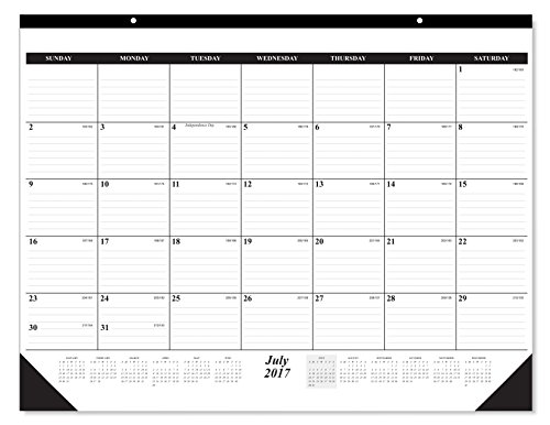 10 Pack of The #1 Best selling 2018 Deskpad Calendar 12 Months, January - December 2018, Holidays Julian Days; Great Durable Quality Beautiful Ruled For your Memos; 17 x 22 Inches by Creative Boards
