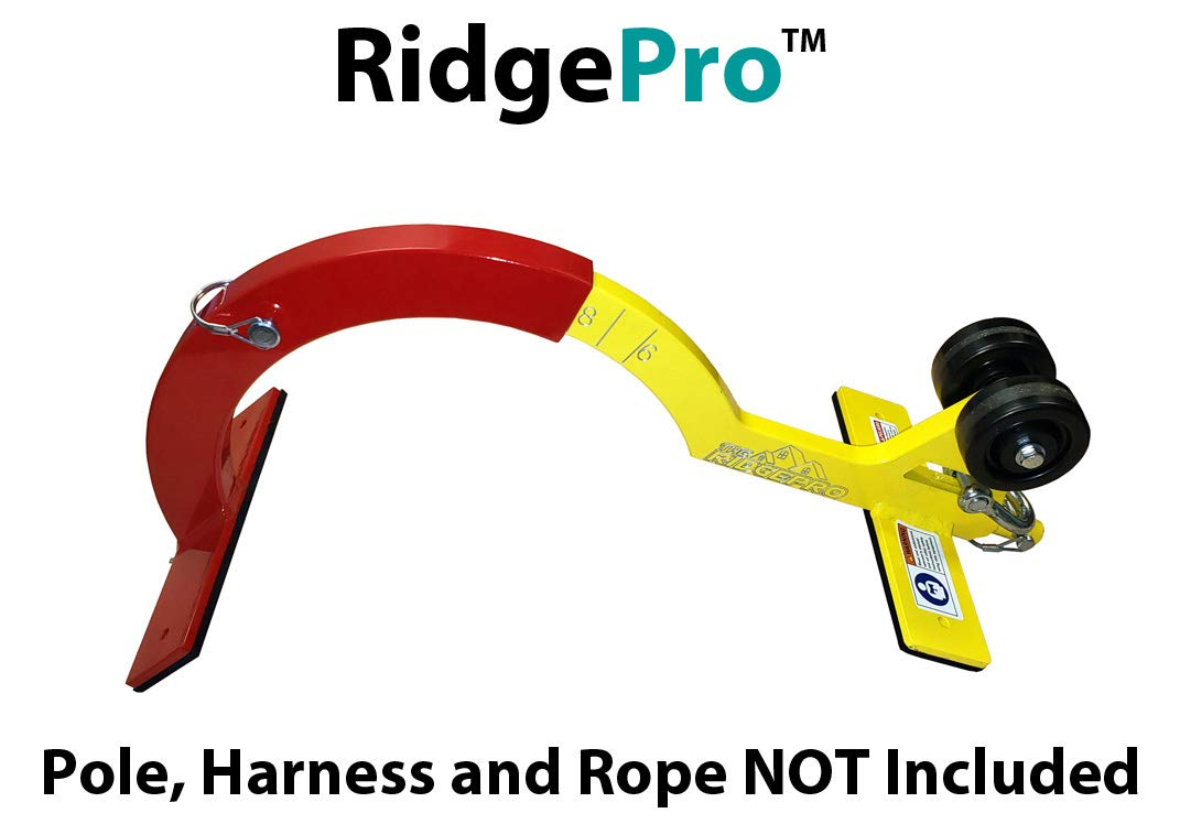 RidgePro Roof Anchor, Roofing Tool, Roof Hook for First Man Up (FMU) Last Man Down (LMD) The RidgePro Newer Version (No Pole)