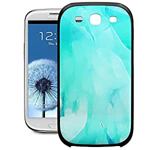 Bumper Phone Case For Samsung Galaxy S3 - Blue Abstract Watercolor Soft Edge Lightweight by lolosakes