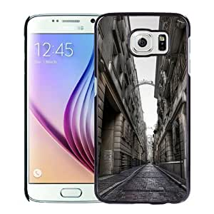 Fashionable Custom Designed Samsung Galaxy S6 Phone Case With Street Architecture_Black Phone Case