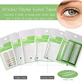 1456Pcs/6Packs/7Styles Eyelid Tapes Invisible Single/Double-Sided Sticky Double Stickers, Medical Fiber Eyelid Lift Strip