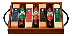 Premium Gourmet Meat and Cheese Tray | Great Holiday, Birthday, or Father's Day Gift Idea