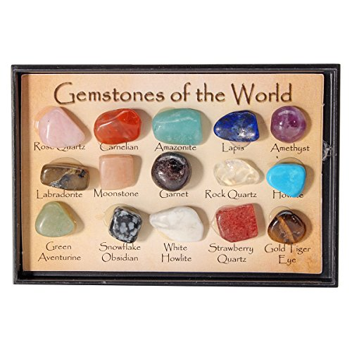 CocinaCo Rock Collection Mix Gems Crystals Natural Teaching Mineral Ore Specimens Decoration Box