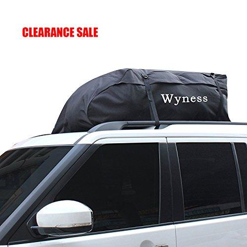 Wyness Waterproof Dustproof Skid Oxford Cloth SUV Car Top Carrier Cargo Bag (15 Cubic Feet)