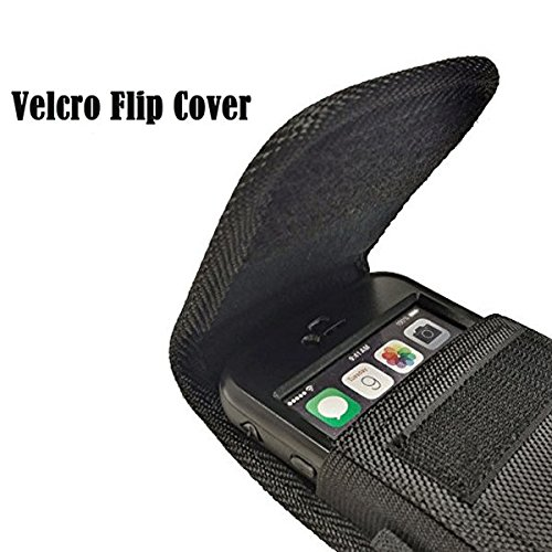 AIScell Metal Belt Clip Holster For Iphone 8 Plus, 7 Plus,6S/6 Plus ~Extra Large Ultra Rugged Pouch Nylon Canvas Case (Fit Phone With Lifeproof,Otterbox Defender,Battery Case,Thick Hybrid Cover) by AIScell (Image #2)