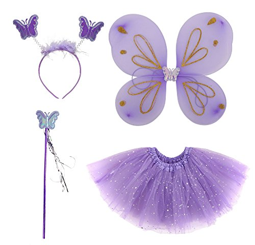 Halloween Costume Angel Wings Costume Set with Tutu,