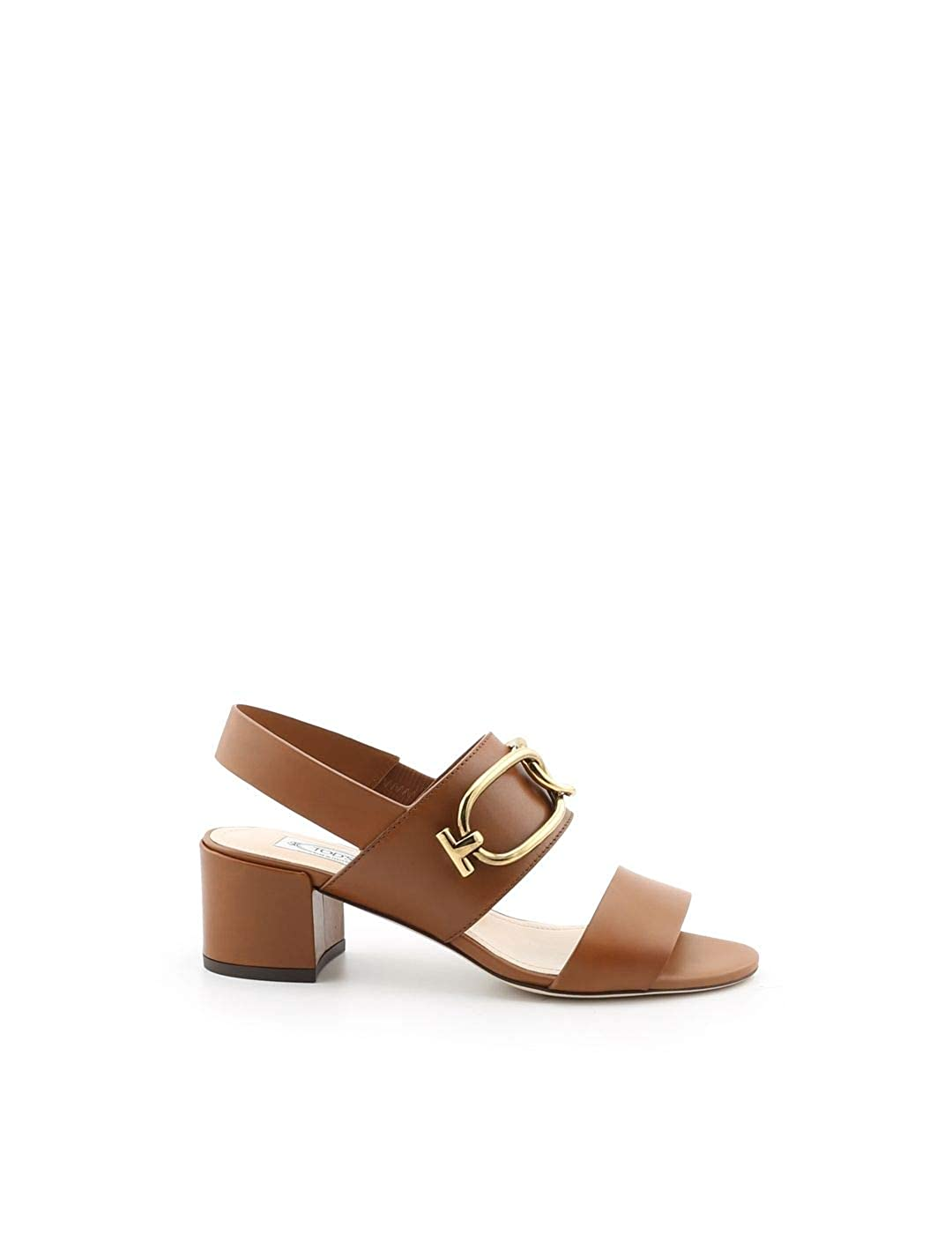 - Tod's Women's XXW44B0BD40D90S018 Brown Leather Sandals