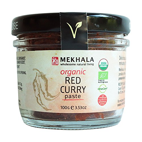 Mekhala Organic Gluten Free Thai Red Curry Paste 3.53oz (Paste Spice)