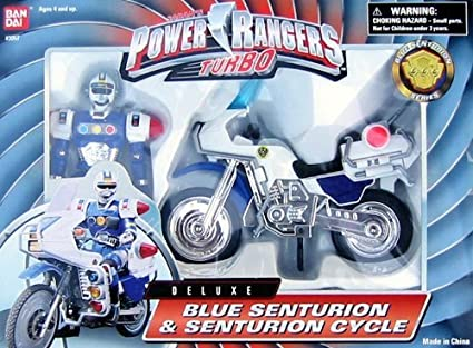 Power Rangers Turbo Deluxe Blue Senturion & Senturion Cycle
