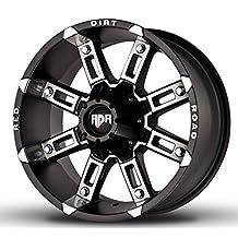 "17"" Inch RD06 THUNDER OFF ROAD Wheels Rims Set Black Machine (17x9 - 5x127/135 OFFSET: +12)"