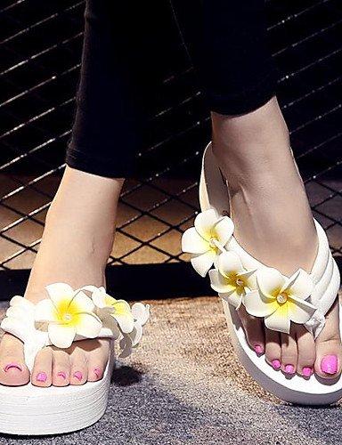 LFNLYX Zapatos de mujer-Plataforma-Chanclas-Pantuflas-Exterior / Vestido / Casual-Tejido-Negro / Rosa / Blanco Black