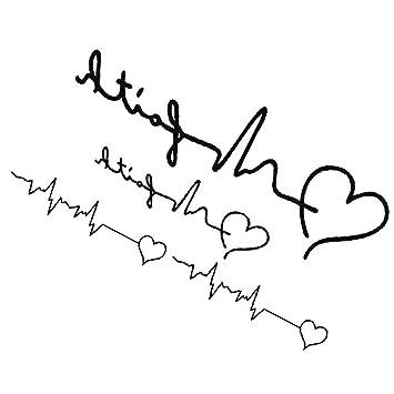 TOOGOO(R)Etiqueta engomada del tatuaje Hermoso patron del amor del ...
