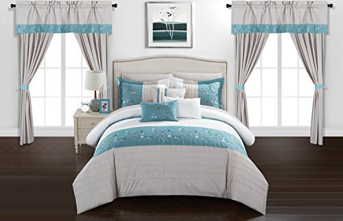 Chic Home CS8051-an Comforter Sets, King, Blue