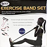 Resistance Flex Band Set 3 Piece Increase Strength and Muscular Endurance Physical Therapy Includes...