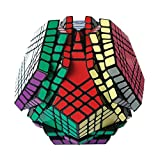HJXD globle Megaminx Magic Cube 7x7 Dodecahedron Puzzle Cube Toys for Kids Black