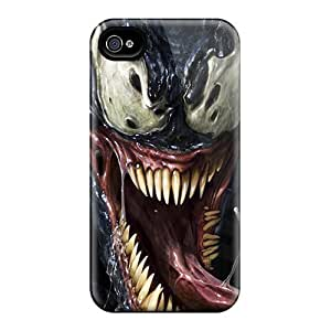 Great Hard Cell-phone Case For Iphone 4/4s With Provide Private Custom Colorful Venom Looking Crazy Pattern IanJoeyPatricia