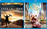 Anniversary 40th Fiddler on the Roof Musical & The King and I + DVD Blu Ray Movie Double Feature Bundle