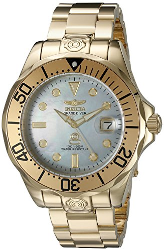 Invicta Men's 16033 Pro Diver Analog Display Automatic Self Wind Gold Watch