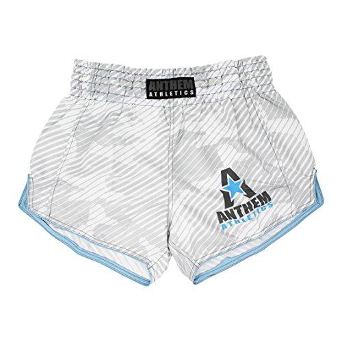 Anthem Athletics NEW! 10+ Styles RECKONER Retro Muay Thai Shorts - Kickboxing, Thai Boxing - White Line Camo - Small