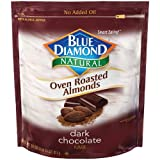 Blue Diamond, Naturals, Oven Roasted Dark Chocolate Almonds, 25oz Bag (Pack of 2)