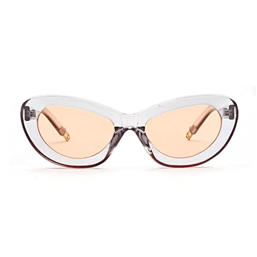 c1b7891b32 Image Unavailable. Image not available for. Color  Limsea Hot Sale!Mens  Womens Small Frame Cat Eye Oval Retro Vintage Sunglasses Eyeglasses