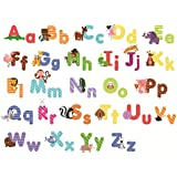 Animal Alphabet Wall Decals - Fun and Educational Letters for Nursery and Kids Rooms - Easy Peel Stickers