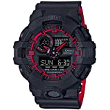 Casio G-Shock GA700SE-1A4 53.4mm Resin Men's Watch (Matte Black/Red)