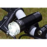 Lumintrail All-Aluminum Compact 300 Lumen USB Rechargeable Side Illumination Bicycle Headlight with Integrated Li-ion Battery (Black)