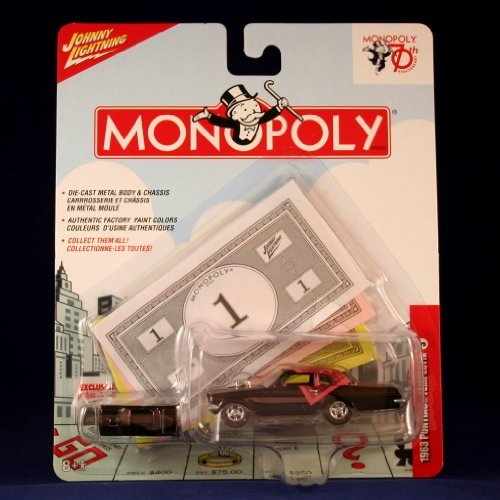 1963 PONTIAC TEMPEST #3 * BLACK & PINK * Johnny Lightning 2006 MONOPOLY 70TH ANNIVERSARY COLLECTION * 1:64 Scale Die Cast Vehicle