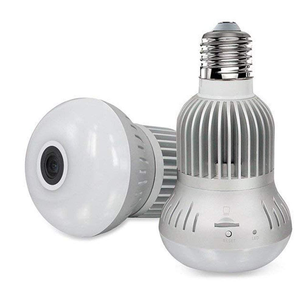 Panoramic Light Bulb Camera   VRCAM Fisheye 360 Degree Wireless WiFi IP Camera - 960P HD Bulb E27 Lamp Indoor Home Security Camera for iPhone Android by VRCAM