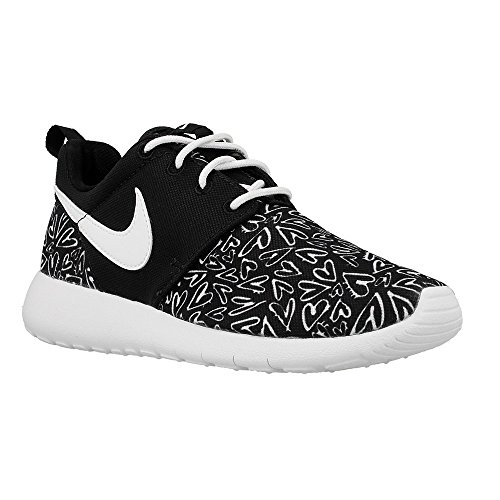 Nike  Nike Roshe One Print (Gs), Damen Sneaker schwarz schwarz / weiß