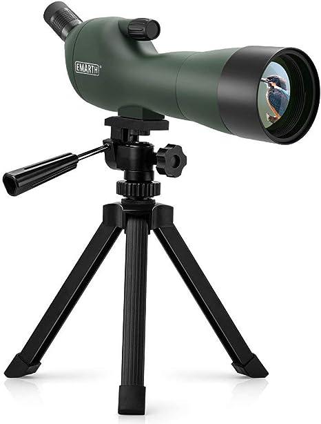 Telescopio Terrestre Profesional, Aumento de 20-60x, 60mm Lente Grande FMC, con Clip para Móvil, Adecuado para Observación de Aves, Tiro Al Blanco y Acampar: Amazon.es: Deportes y aire libre